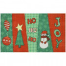 Christmas Stitch 17 in. x 29 in. Digital Printed Echo Door Mat