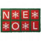 Noel 18 in. x 30 in. Hand Woven Coconut Fiber Door Mat