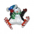 13.75 in. Battery-Operated Pure White Twinkling LED Penguin Icy Window Decor