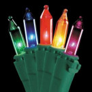 50-Light Ready Lit Multi-color Bulb String Light Set