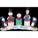 126 in. W x 49 in. D x 78 in. H Inflatable Christmas Character Carolers Scene with Light Show
