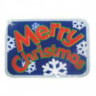 """Battery-Operated 16 in. LED Light Show Window Sign """"Merry Christmas"""""""