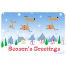 New Wave Holiday 1 ft. 6 in x 2 ft. 3 in. Neoprene Flying Reindeer Season Greeting Mat