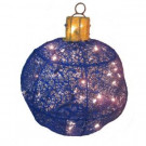 15 in. 50-Light Blue Mesh Ornament