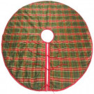 54 in. Red and Green Tartan Plaid Tree Skirt