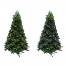7.5 ft. Indoor Pre-Lit LED Mount Everest Spruce Artificial Christmas Tree with Color Changing Lights