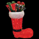 2 ft. 6 in. Lighted Red Christmas Boot Stuffed with Presents