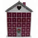 16.5 in. Whitewash Holiday Heart Advent Calendar