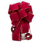 Red Flock with Gold Sonic Edge Tree Topper Bow