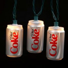 10-Light Red/Silver Diet Coke Can Indoor Light Set