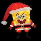 18 in. Tinsel SpongeBob Santa