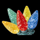 100-Light LED Multi-Color Faceted C6 Lights with 8 Functions