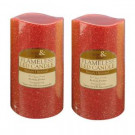 6 in. Red Glitter Flameless LED Candles (Set of 2)