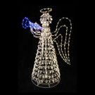 5 ft. x 2 in. 490-Light LED Twinkling Angel Sculpture